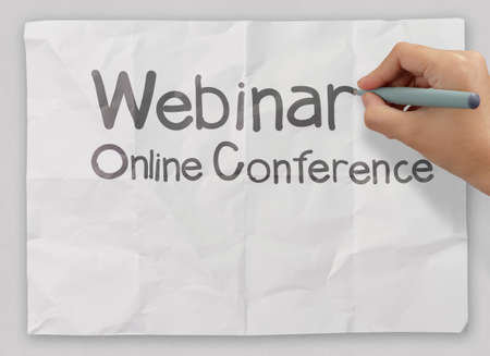 hand writing Webinar as concept Stock Photo - 22396867