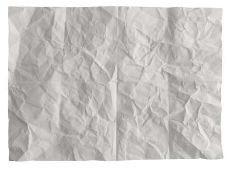 white crumpled paper background texture photo
