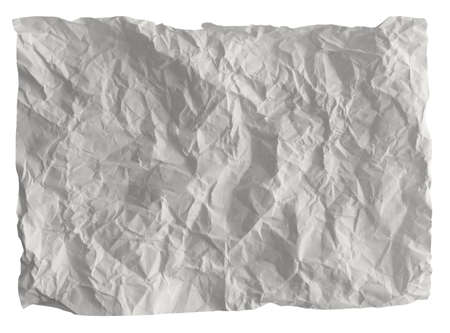 crumpled sheet: white crumpled paper background texture Stock Photo