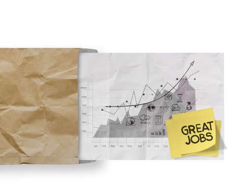 competencias laborales: trabajos grandes palabras nota pegajosa con la estrategia de negocio de papel arrugado sobre como concepto Foto de archivo