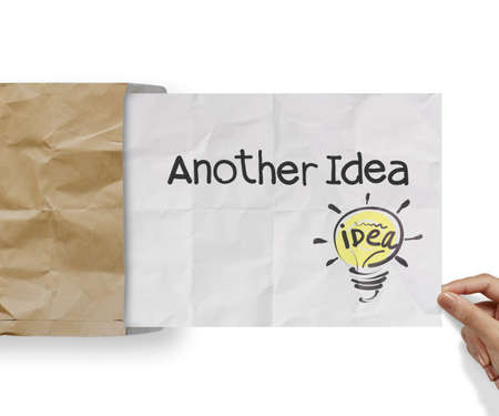 another: another idea light bulb with recycle envelope background as creative concept