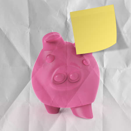 smart investment with sticky note on winner piggy bank as concept photo