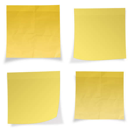 Yellow sticky note isolated on white background Stock Photo - 22852874