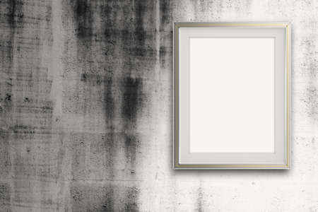 empty modern style frame on grunge wall as concept Stock Photo - 22852876