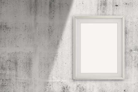empty modern style frame on grunge wall as concept Stock Photo - 22852877