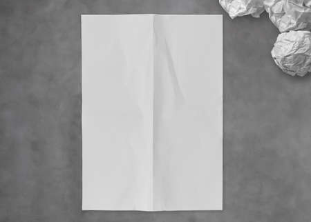 blank crumpled sticky note paper on texture paper as concept photo