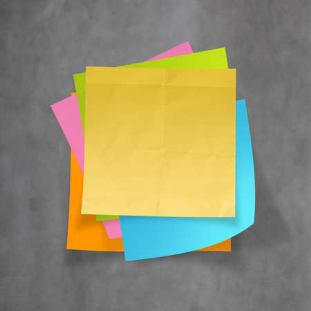 great job: great job sticky notes on recycle crumpled paper background as concept