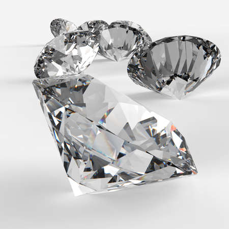 Diamonds 3d in composition as concept Stock Photo - 23401672