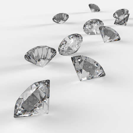 Diamonds 3d in composition as concept Stock Photo - 23401676