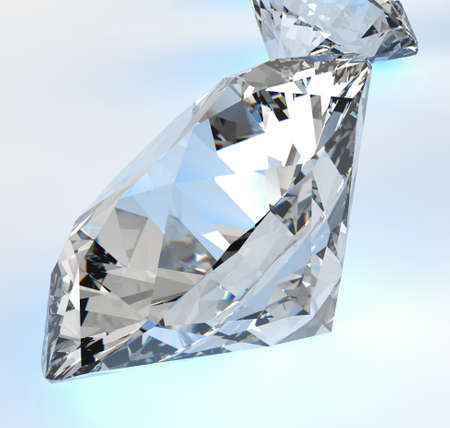 Diamonds isolated on white 3d model composition concept Stock Photo - 25264664