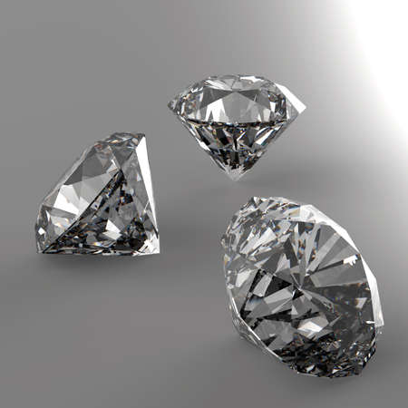 td: Diamonds 3d in composition as concept