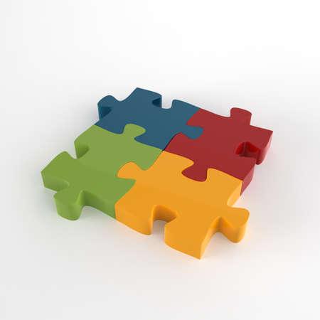 3d puzzles partnership as concept