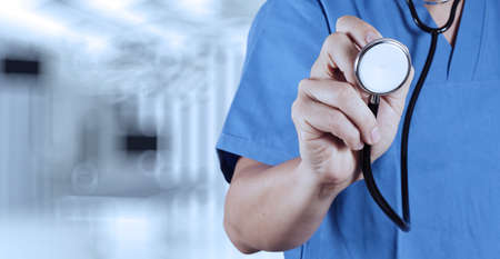 success smart medical doctor working with operating room as concept photo