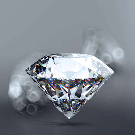 Diamonds 3d in composition as concept  photo