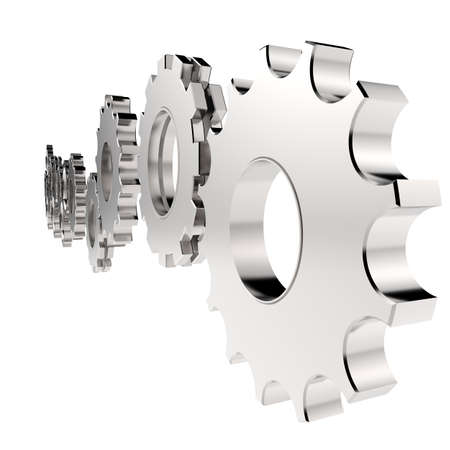 3d cog gear to success as concept  photo