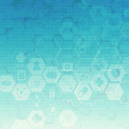 medical concept: hexagon abstract medical background Stock Photo