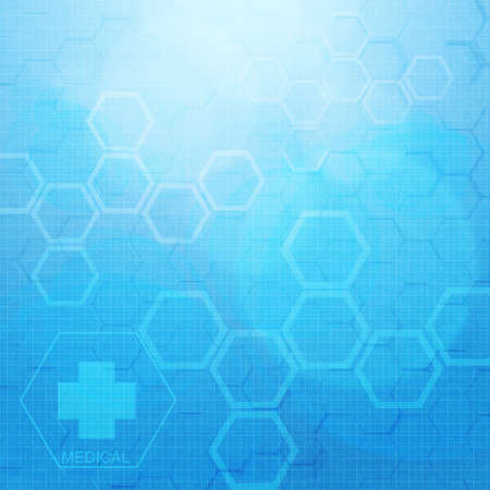 medical concept: Abstract molecules medical background Stock Photo