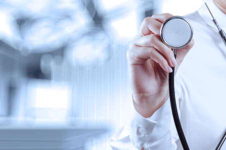 Successo medico intelligente che lavora con sala operatoria come concetto Archivio Fotografico - 28744937