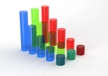 3D Bar Chart and chart growth as concept  photo