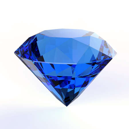 blue diamond on white backgrouund Imagens - 32580789