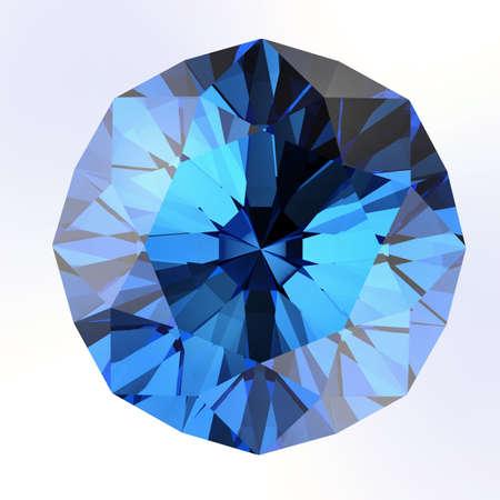 diamante: diamante azul en backgrouund blanco