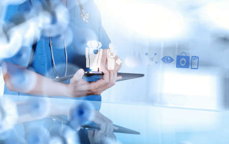 smart medical doctor working with operating room as concept Stockfoto