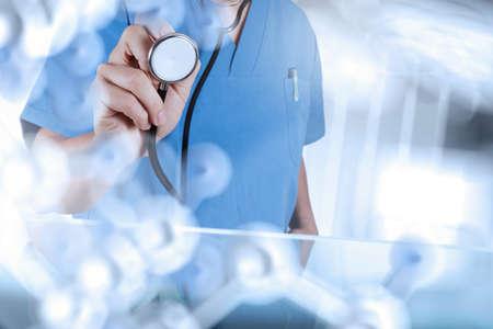 개념으로 수술실 작업 스마트 의사 스톡 콘텐츠