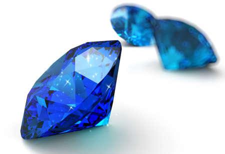 karat: blue diamonds on black and white background