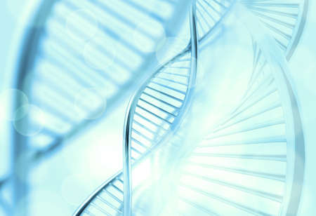 genetica: Astratto molecole medico sfondo blu
