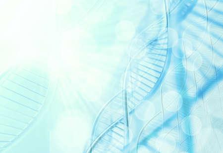 Molécules abstraites médicale fond bleu