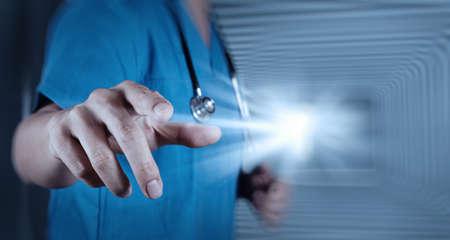 quirurgico: éxito inteligente médico de trabajo Foto de archivo