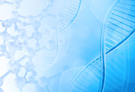 Molécules abstraites médicale fond bleu Banque d'images - 34875701