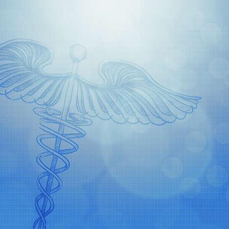 caduceo: caduceo con concepto abstracto antecedentes médicos