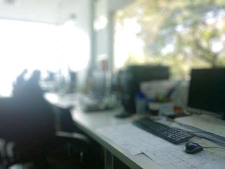 blurs: abstract office with computer blur background