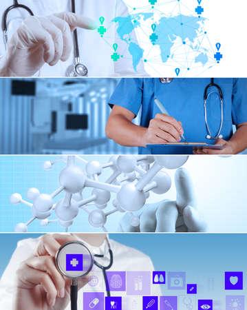 様々 な現代医療コンセプトのコラージュ 写真素材