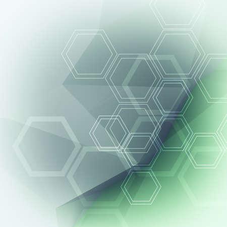 quimica organica: Moléculas abstractas bajo poli antecedentes médicos Foto de archivo