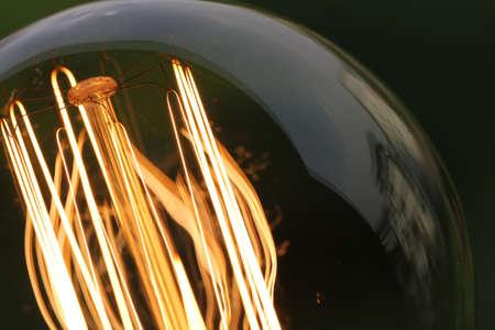 lightbulb: close up of vintage light bulb as creative concept Stock Photo