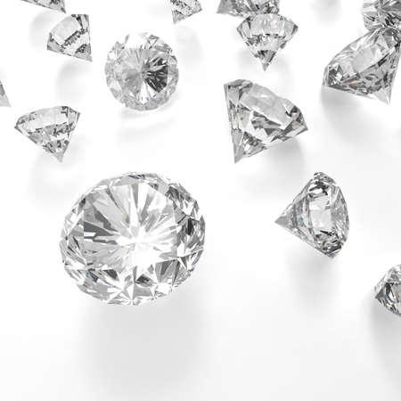 diamante: Diamantes 3d en composición como concepto Foto de archivo