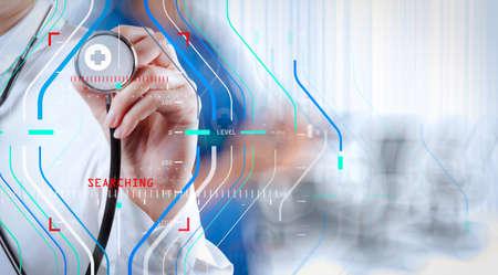 Diagnóstico preciso, tratamiento apropiado, concepto médico, éxito, médico inteligente, trabajando con quirófano como concepto