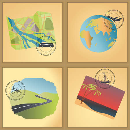 Travel  theme vintage vector illustration  Vector