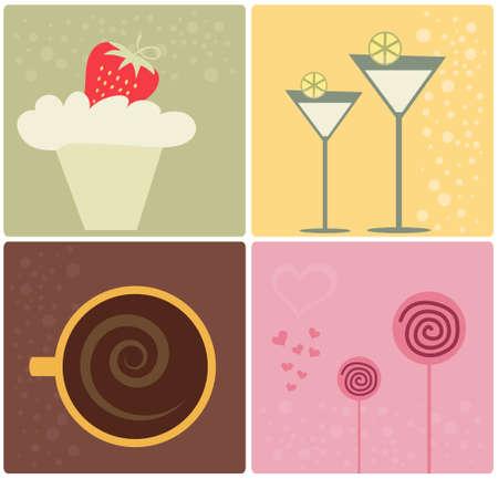 Food Design Elements Illustration