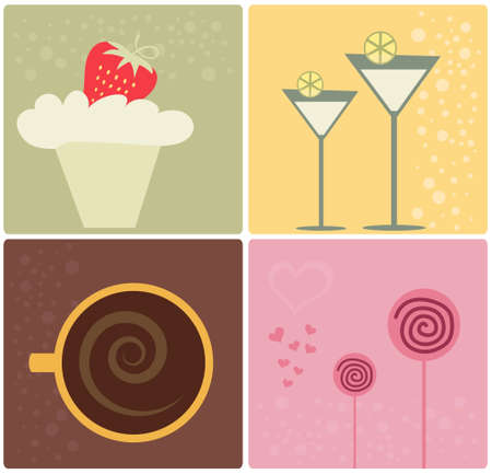 Food Design Elements Illustration