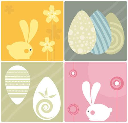 Easter Bunnies Design Elements Stock Vector - 4888438