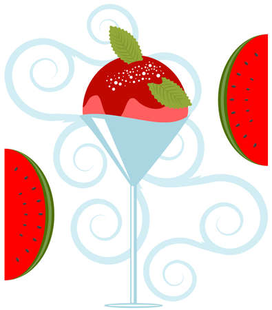 Vector Delicious Fruit Ice Cream Dessert Stock Vector - 4888425