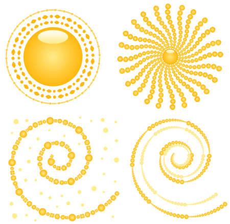 Vector Sun Decor Elements Illustration