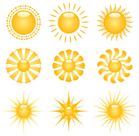 Vector Sun Decor Elements Illustration