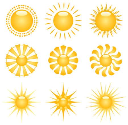 Vector Sun Decor Elements Stock Vector - 4888430