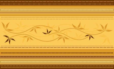 Vector Striped Floral Background  Illustration