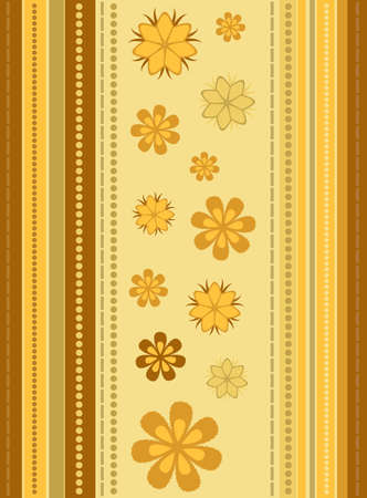 Striped Background with Floral Ornament Illustration
