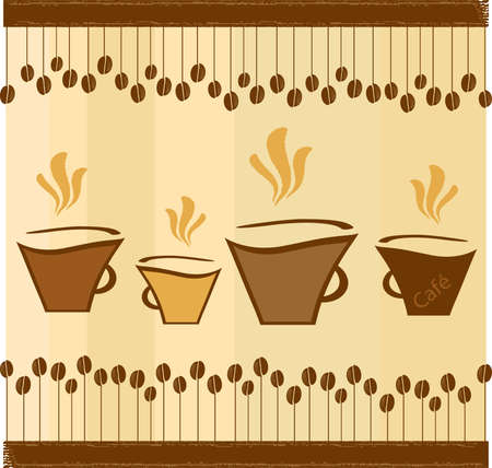 Vector Coffee Background Design Vector